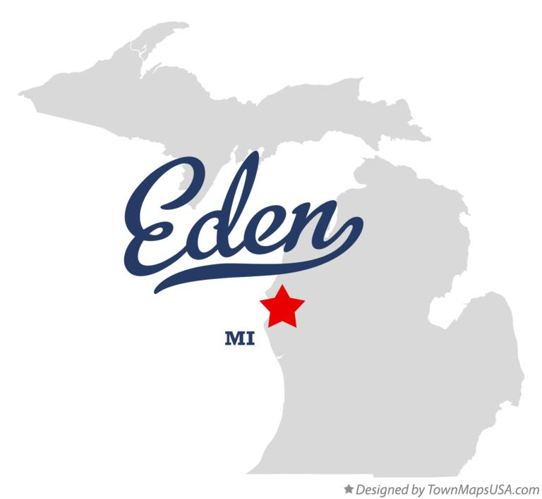 Map of Eden Michigan MI