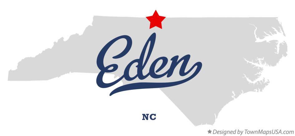 Map of Eden North Carolina NC
