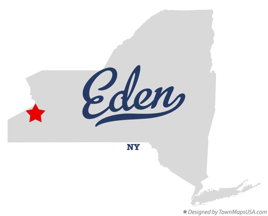 Map of Eden New York NY