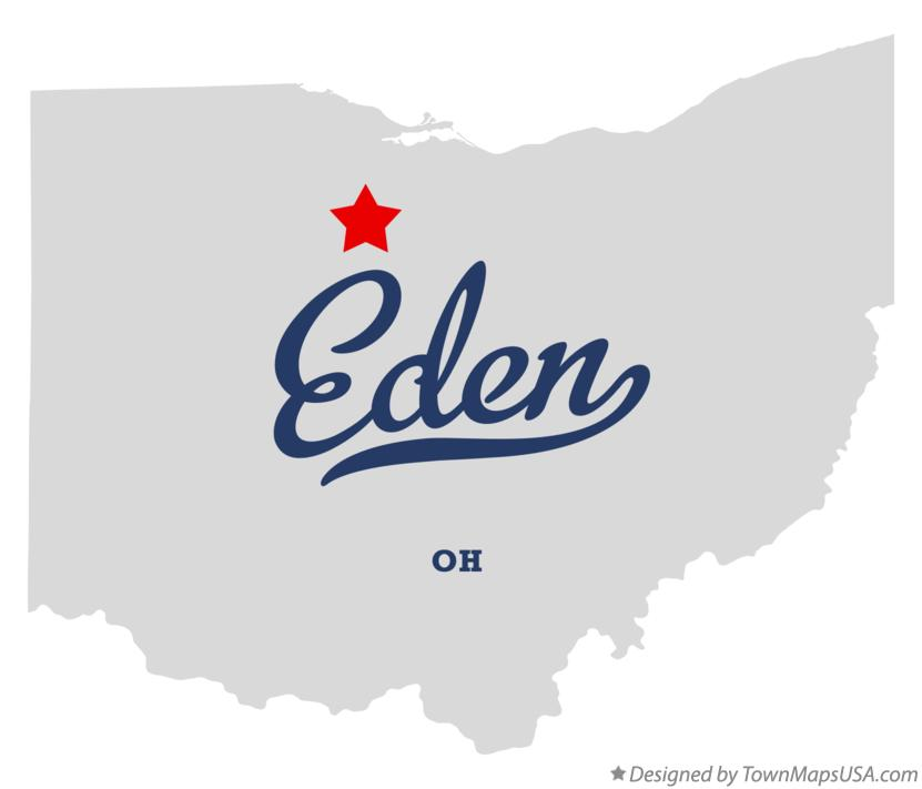 Map of Eden Ohio OH