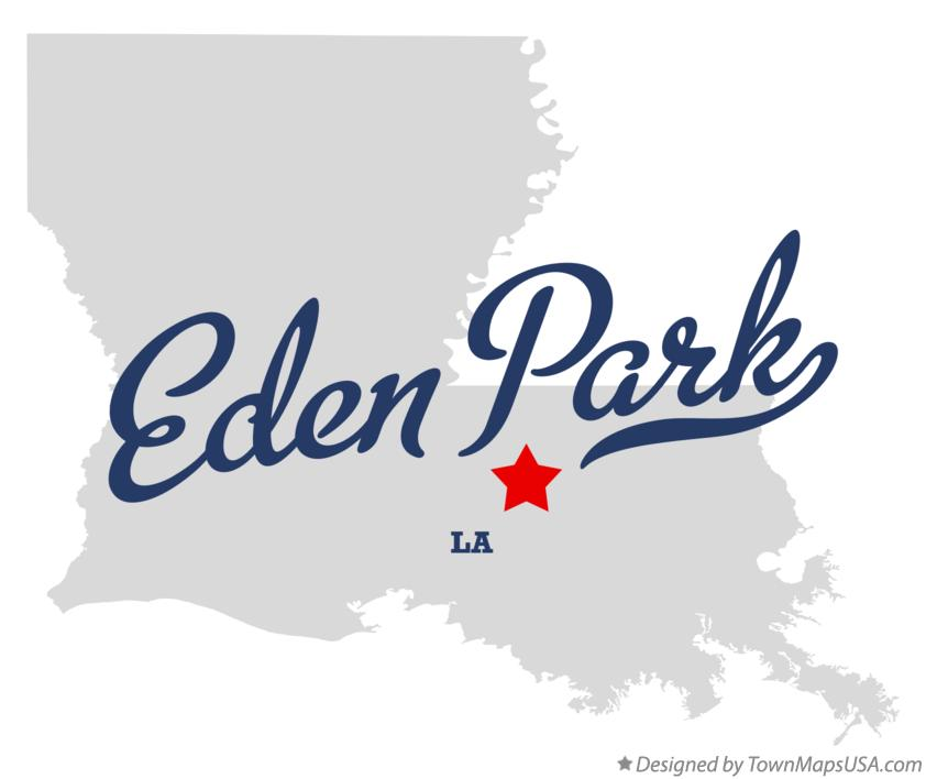 Map of Eden Park Louisiana LA