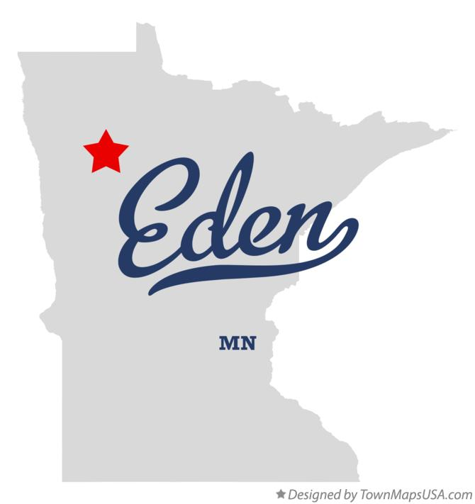 Map of Eden Minnesota MN