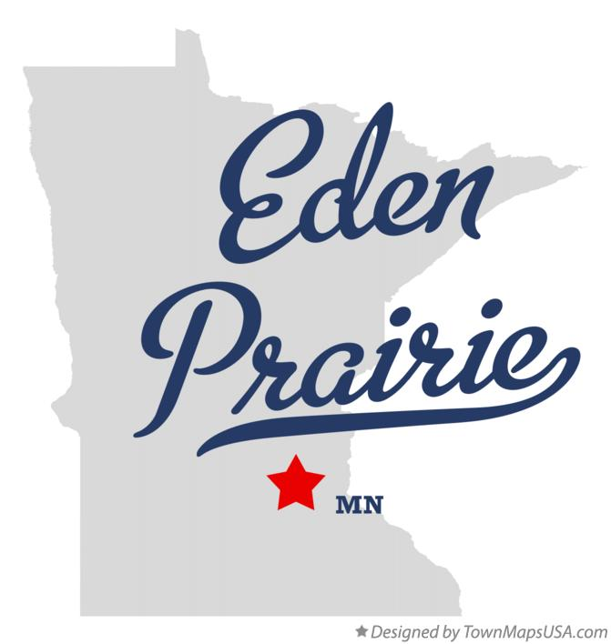 Map of Eden Prairie Minnesota MN