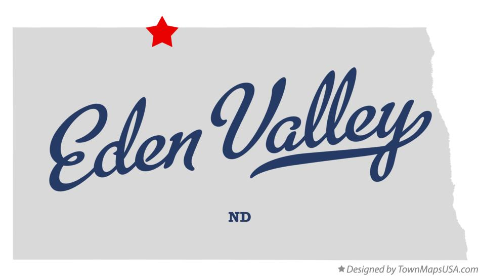 Map of Eden Valley North Dakota ND