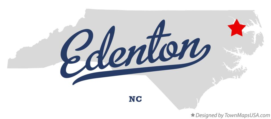 Map of Edenton North Carolina NC