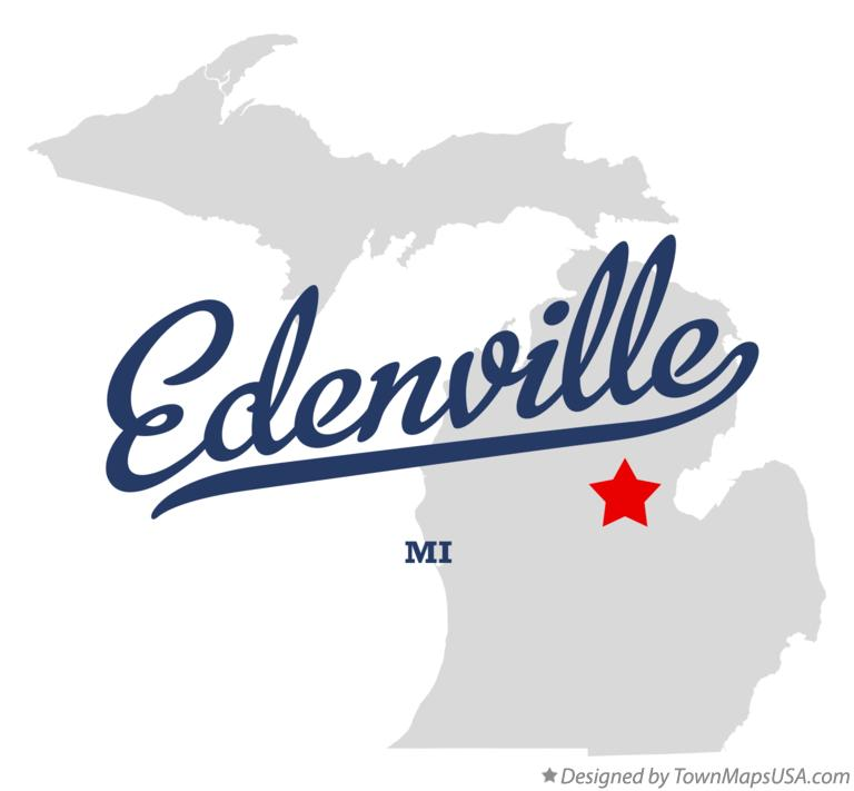 Map of Edenville Michigan MI