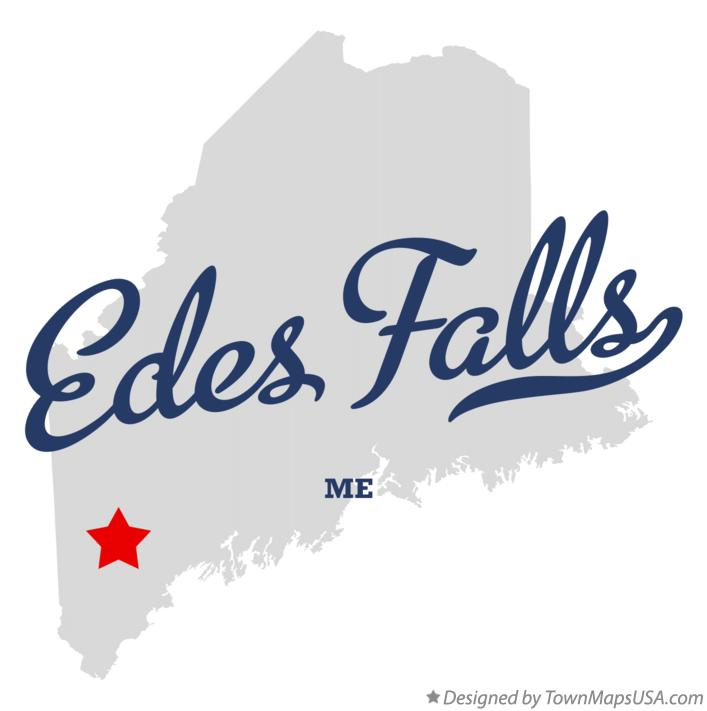Map of Edes Falls Maine ME