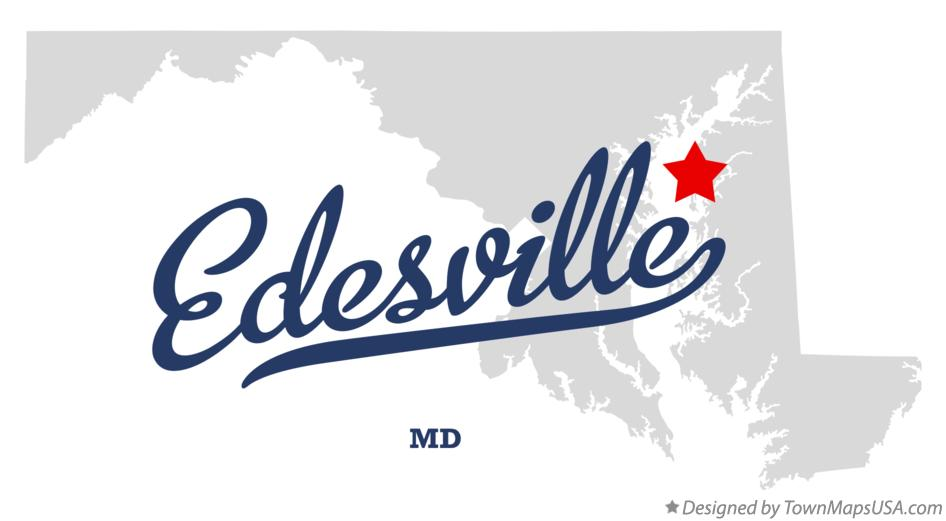 Map of Edesville Maryland MD