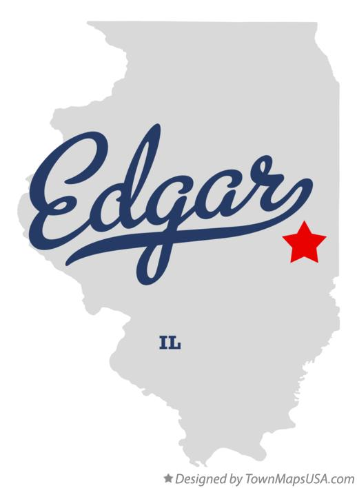 Map of Edgar Illinois IL