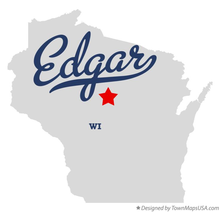 Map of Edgar Wisconsin WI