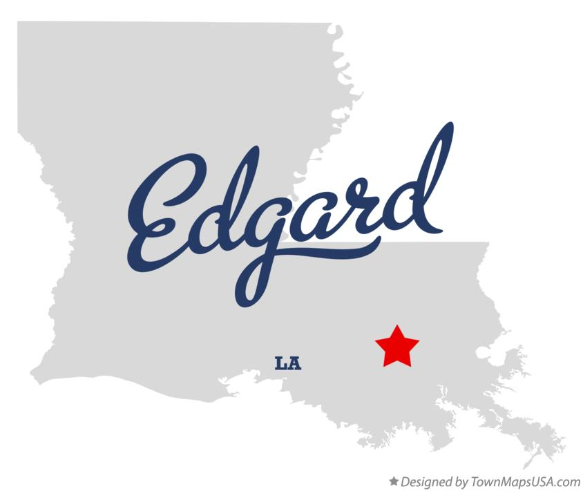 Map of Edgard Louisiana LA