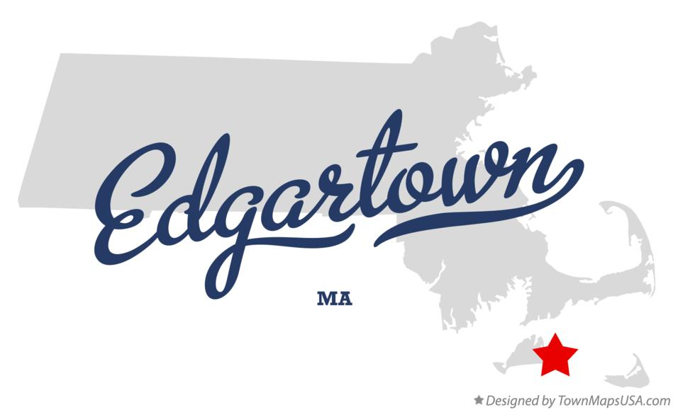 Map of Edgartown Massachusetts MA