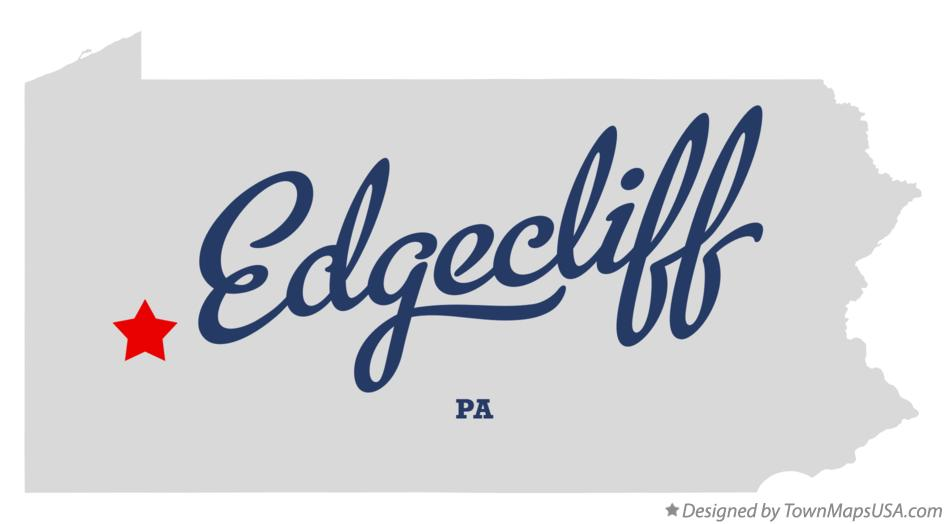 Map of Edgecliff Pennsylvania PA