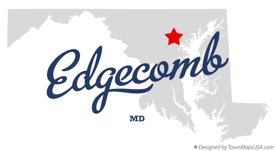 Map of Edgecomb Maryland MD