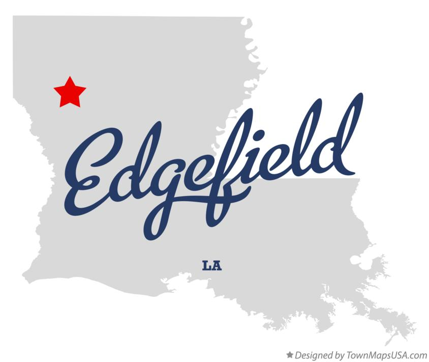 Map of Edgefield Louisiana LA
