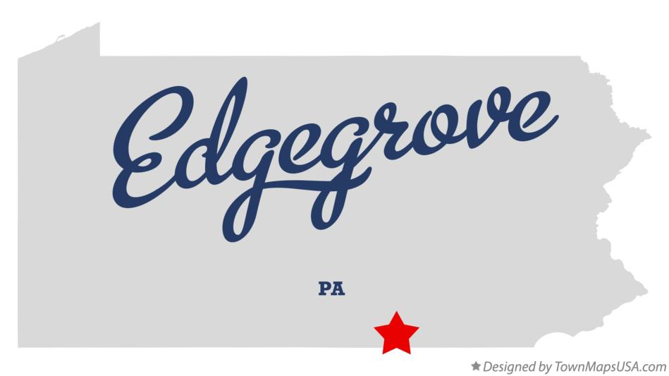 Map of Edgegrove Pennsylvania PA
