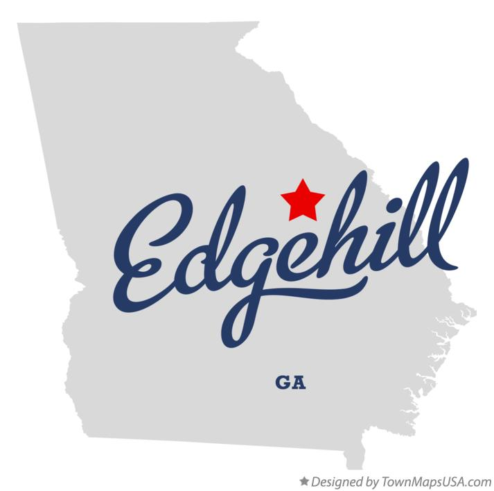 Map of Edgehill Georgia GA
