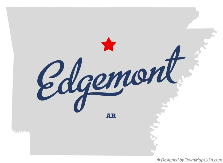 Map of Edgemont Arkansas AR
