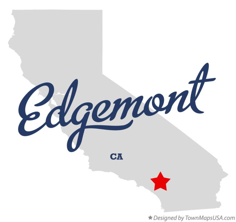 Map of Edgemont California CA
