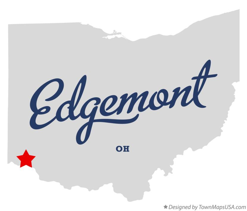 Map of Edgemont Ohio OH