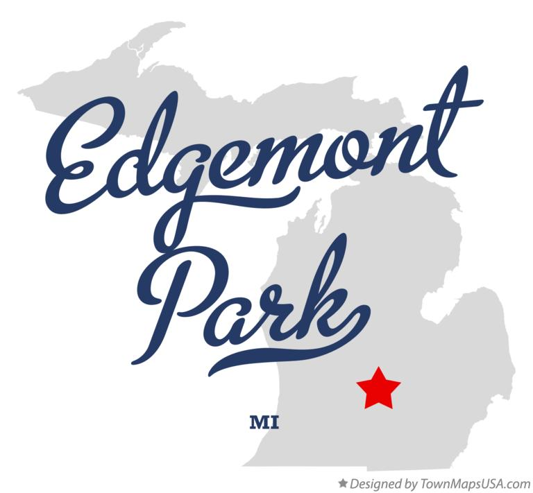 Map of Edgemont Park Michigan MI