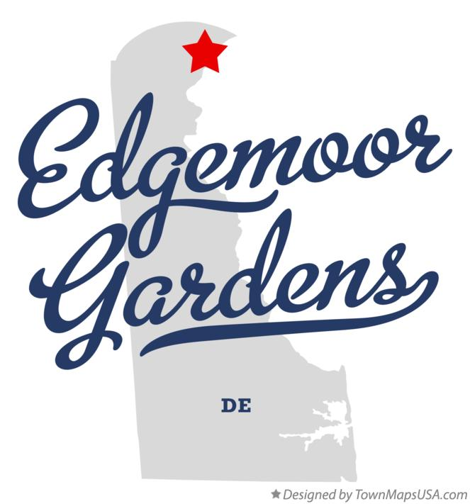 Map of Edgemoor Gardens Delaware DE