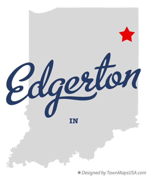 Map of Edgerton Indiana IN