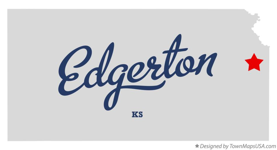 Map of Edgerton Kansas KS