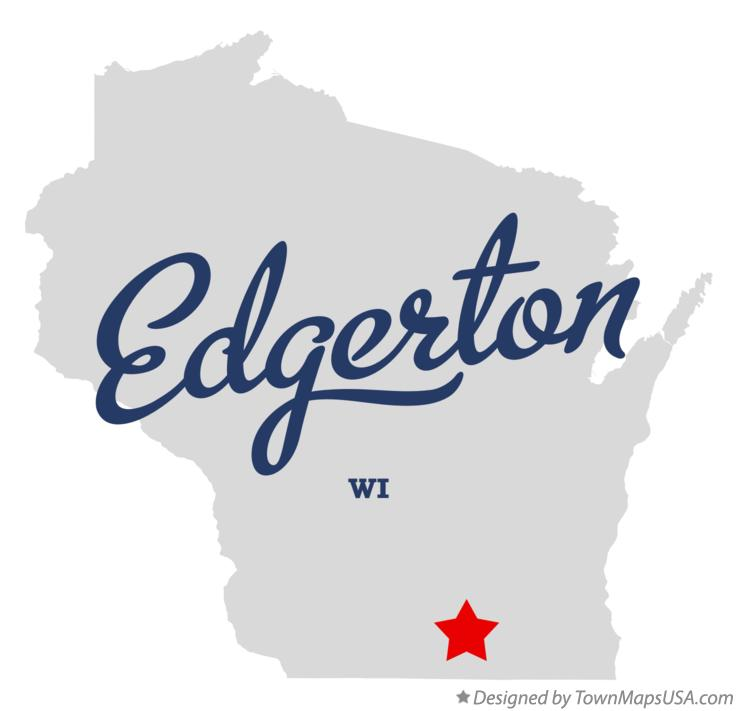 Map of Edgerton Wisconsin WI