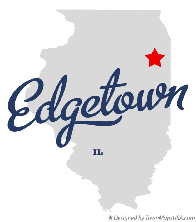 Map of Edgetown Illinois IL