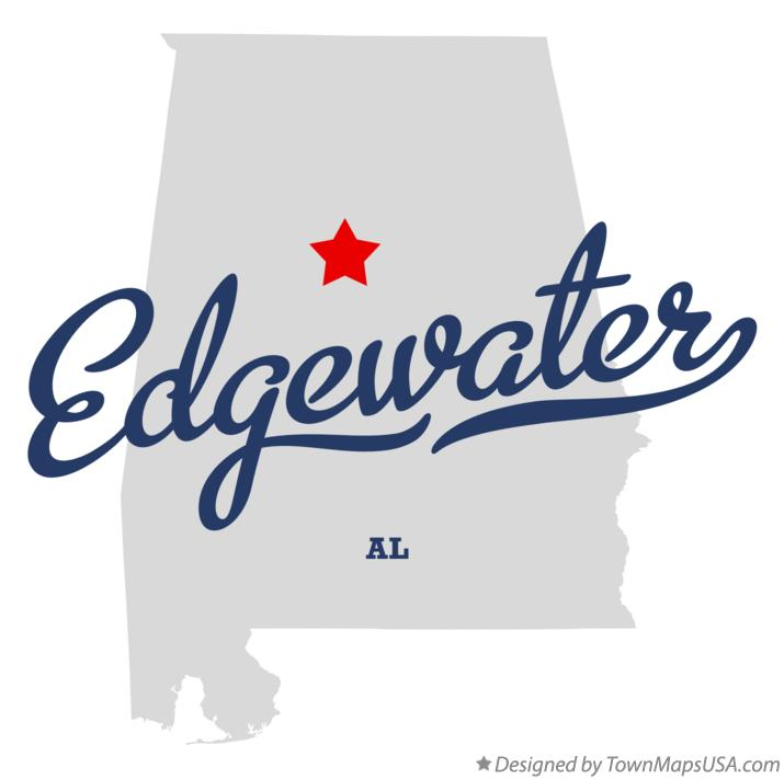 Map of Edgewater Alabama AL