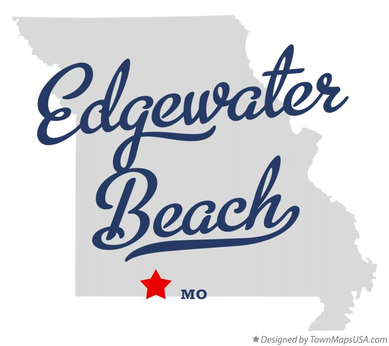 Map of Edgewater Beach Missouri MO