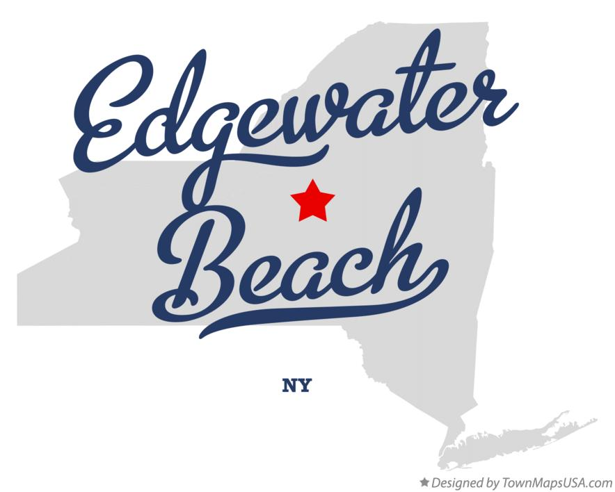 Map of Edgewater Beach New York NY