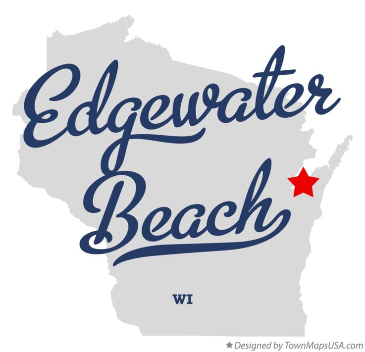 Map of Edgewater Beach Wisconsin WI