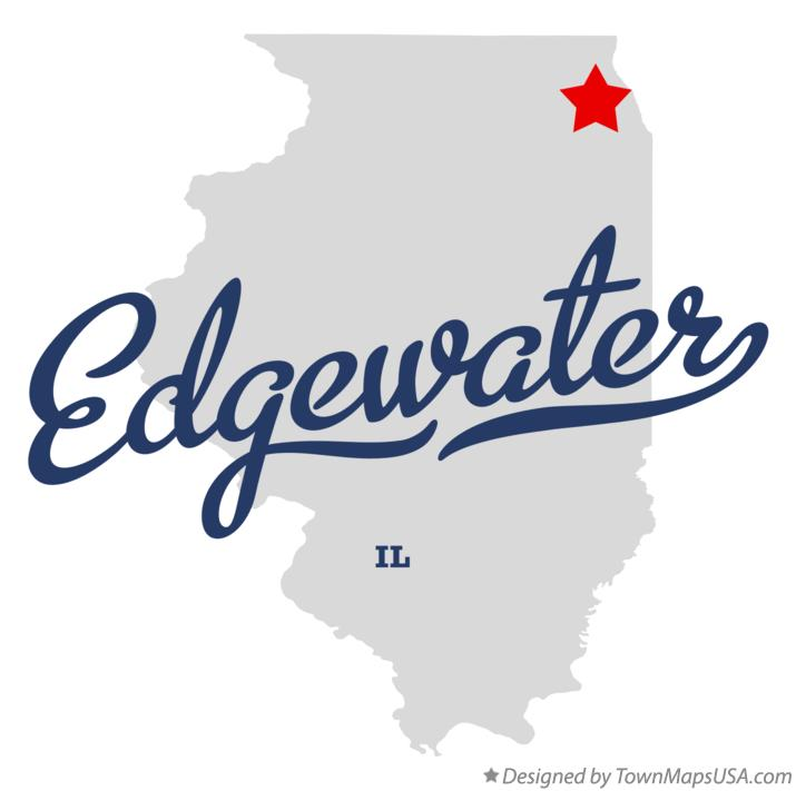 Map of Edgewater Illinois IL