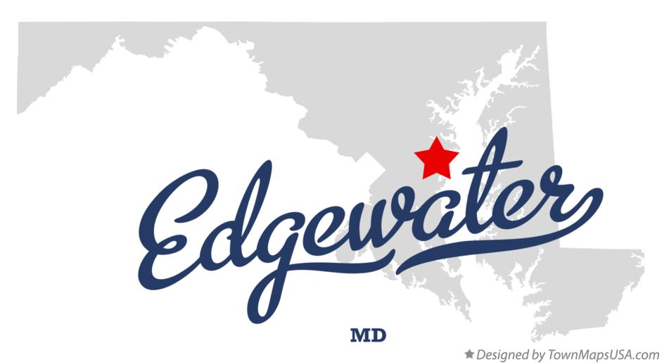 Map of Edgewater MD Maryland