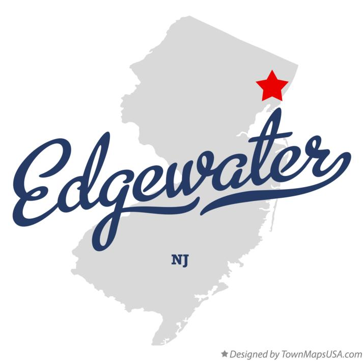 Map of Edgewater New Jersey NJ