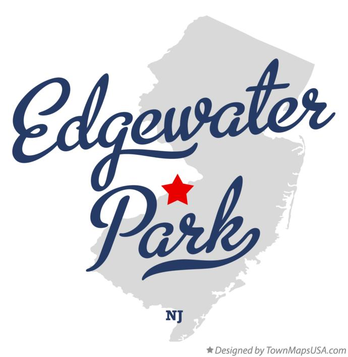 Map of Edgewater Park New Jersey NJ