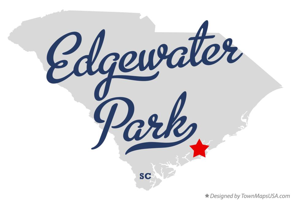 Map of Edgewater Park South Carolina SC