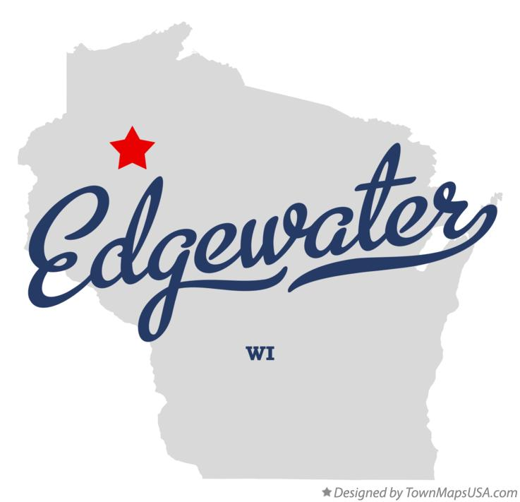 Map of Edgewater Wisconsin WI