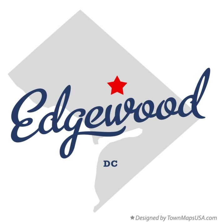 Map of Edgewood District Of Columbia DC