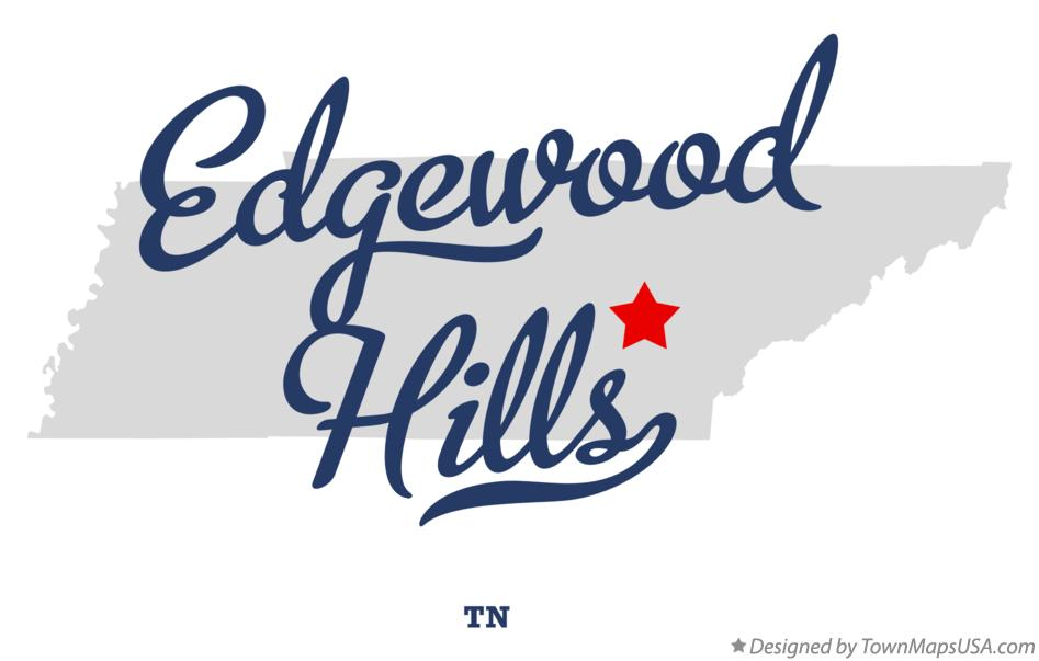 Map of Edgewood Hills Tennessee TN