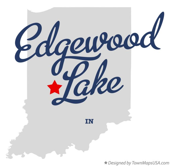 Map of Edgewood Lake Indiana IN