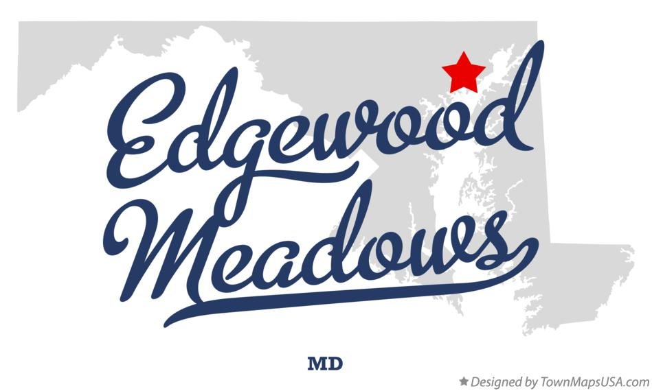 Map of Edgewood Meadows Maryland MD