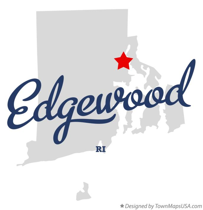 Map of Edgewood Rhode Island RI