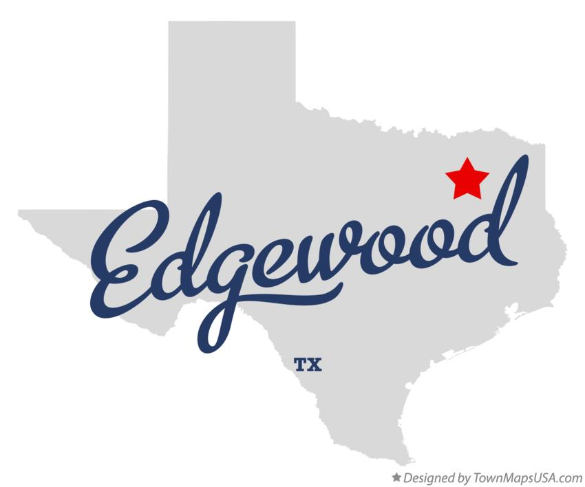 Map of Edgewood Texas TX