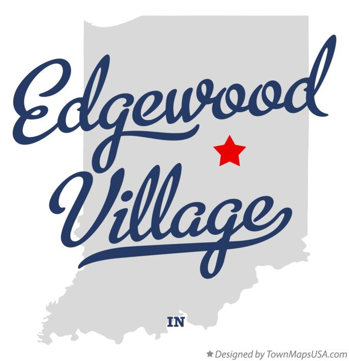 Map of Edgewood Village Indiana IN