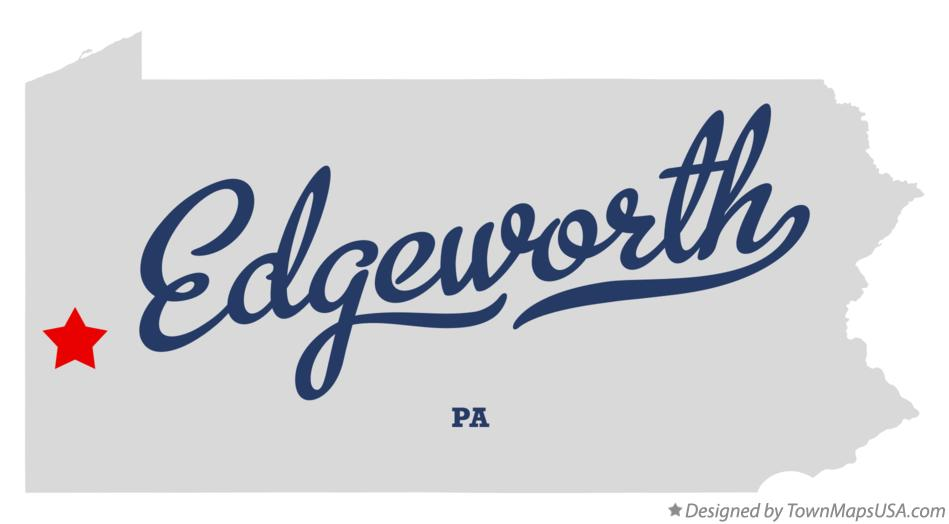 Map of Edgeworth Pennsylvania PA