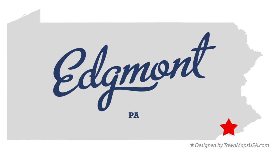 Map of Edgmont Pennsylvania PA