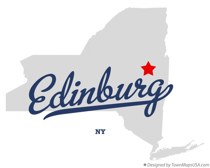 Map of Edinburg New York NY
